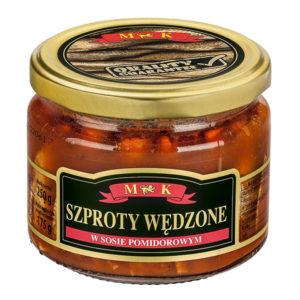 Szprot wędzony w sosie pomidorowym słoik 250g