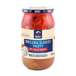 Filety śledziowe kaszubskie Beczka śledzi 800g