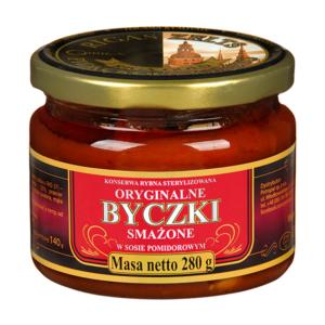 Byczki smażone w sosie pomidorowym słoik 280g