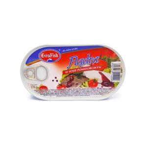 Flądra w sosie pomidorowym 170g